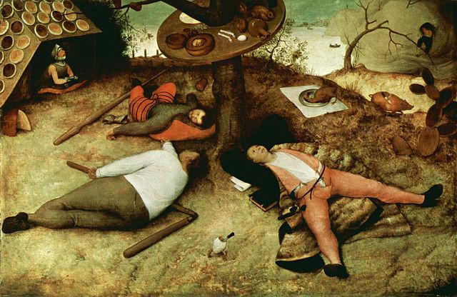Id. Pieter Bruegel: Het Luilekkerland (1567)